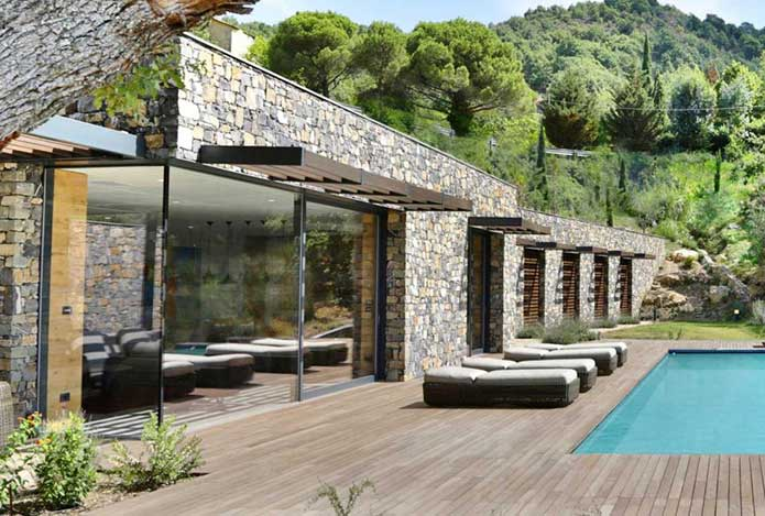 Decking outdoor piscina